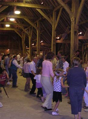 Dancing in the perfect setting of a barn